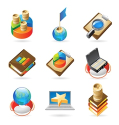 Icon concepts for success vector image