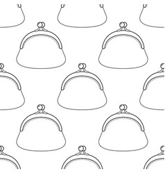 Black and white seamless  pattern of vector