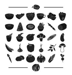 Fruit cafe restaurant and other web icon in vector