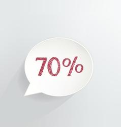 Seventy percent discount vector