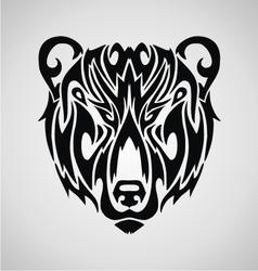 Tribal Bear Face vector image