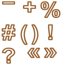 Woodfont vector