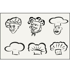 Icons chefs and hubcaps vector