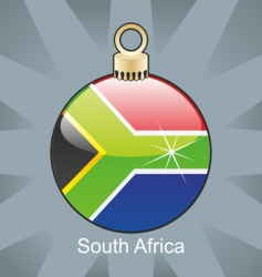 south Africa flag on bulb vector image