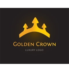 Abstract crown logo template for branding vector