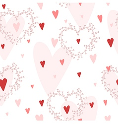 Seamless pattern with hearts and wreaths vector