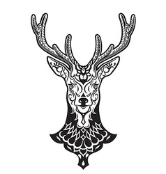 Ethnic ornamented deer vector