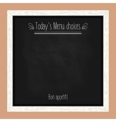 Square menu chalkboard for cafes and restaurants vector