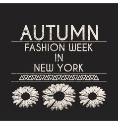 t-shirt fashion in New York vector image