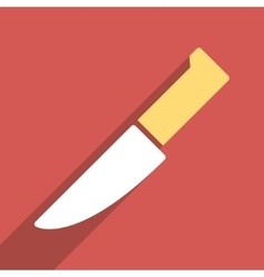 Knife flat long shadow square icon vector