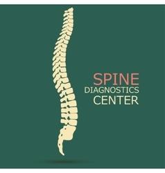 Spine diagnostics center vector image