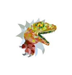 Raptor Breaking Out Low Polygon vector image