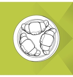 Breakfast icon design vector