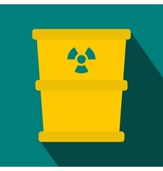 Bucket for hazardous waste icon flat style vector