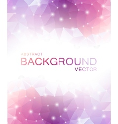 Abstract polygon pink background vector