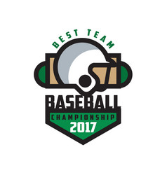 Baseball championship 2017 best team logo vector
