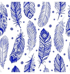 Beautiful feather pattern seamless vector