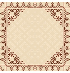 beige background with vintage ornament vector image vector image