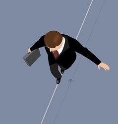 Business man on a wire vector