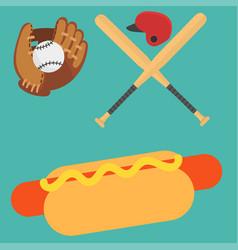 cartoon baseball player icons batting vector image vector image