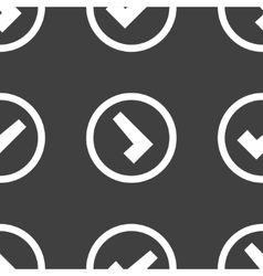check mark web icon flat design Seamless pattern vector image