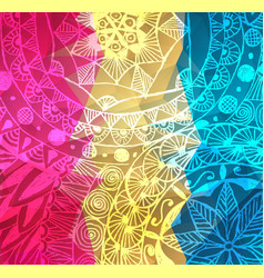 colorful red pink and yellow paint vector image vector image