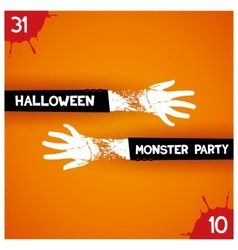 Creative poster for halloween party vector image