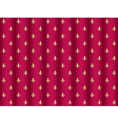 Curtain pattern with royal lilies vector