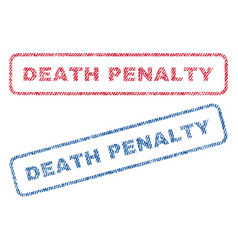 Death penalty textile stamps vector