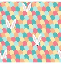 Easter bunny pattern vector image
