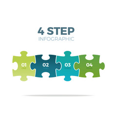Four step puzzle infographic vector