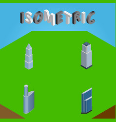 Isometric skyscraper set of residential building vector