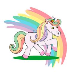 love pink unicorn vector image vector image