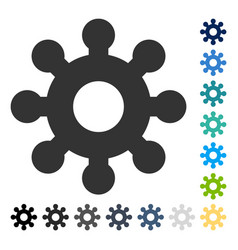 Mechanics gear icon vector
