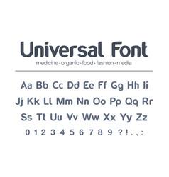 Modern typeface universal font food vector