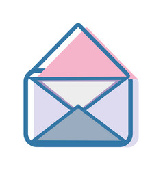 Open letter message to communication concept icon vector