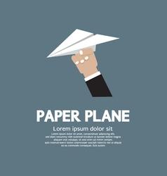 Paper plane In Hand vector image