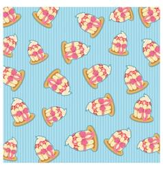 Pattern cupcake vector