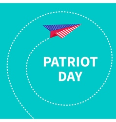 Plane spiral patriot day vector