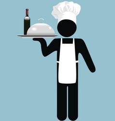Restaurant waiter vector