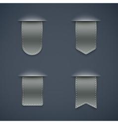 set of grey ribbons vector image vector image
