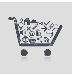 Shopping cart web vector image vector image