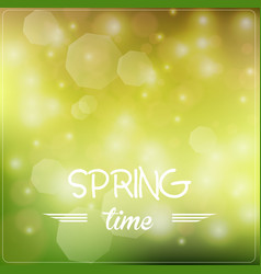 Spring bright bokeh background vector