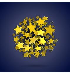 stars circle vector image