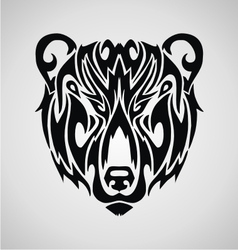 Tribal bear face vector