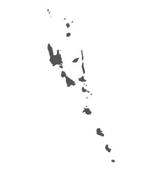 Vanuatu map black icon on white background vector