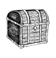 vintage chest engraving vector image