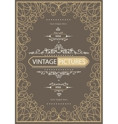 Vintage creative card vector
