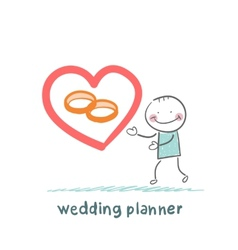 Wedding planner ring shows vector