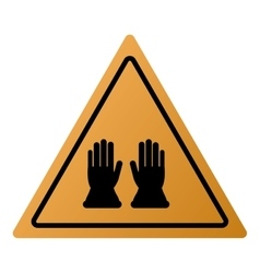 Industrial protection gloves icon sign vector